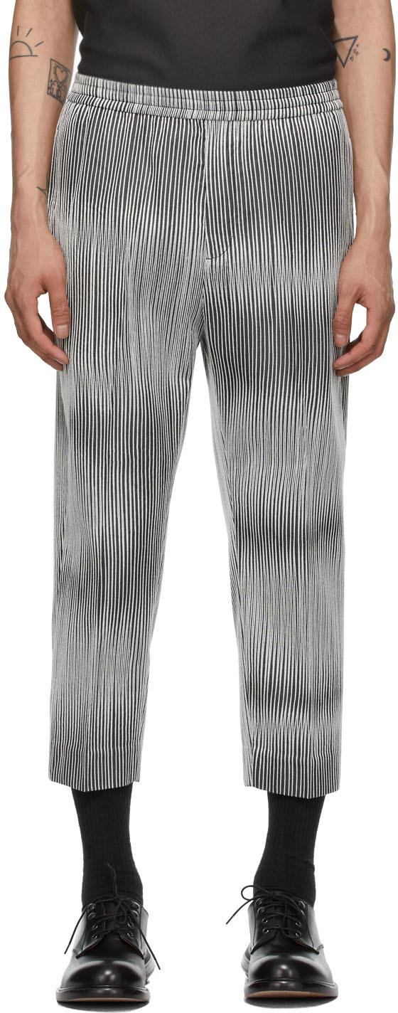 Cornerstone 黑色 & 白色条纹长裤