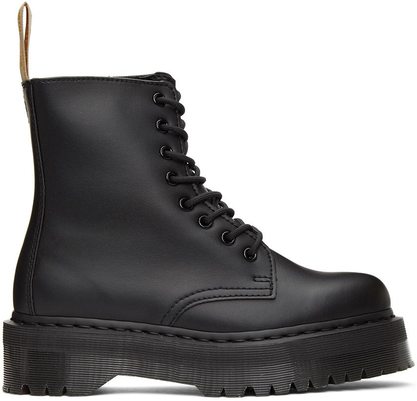 Dr. Martens 黑色 Jadon 2 Mono 纯素皮革踝靴