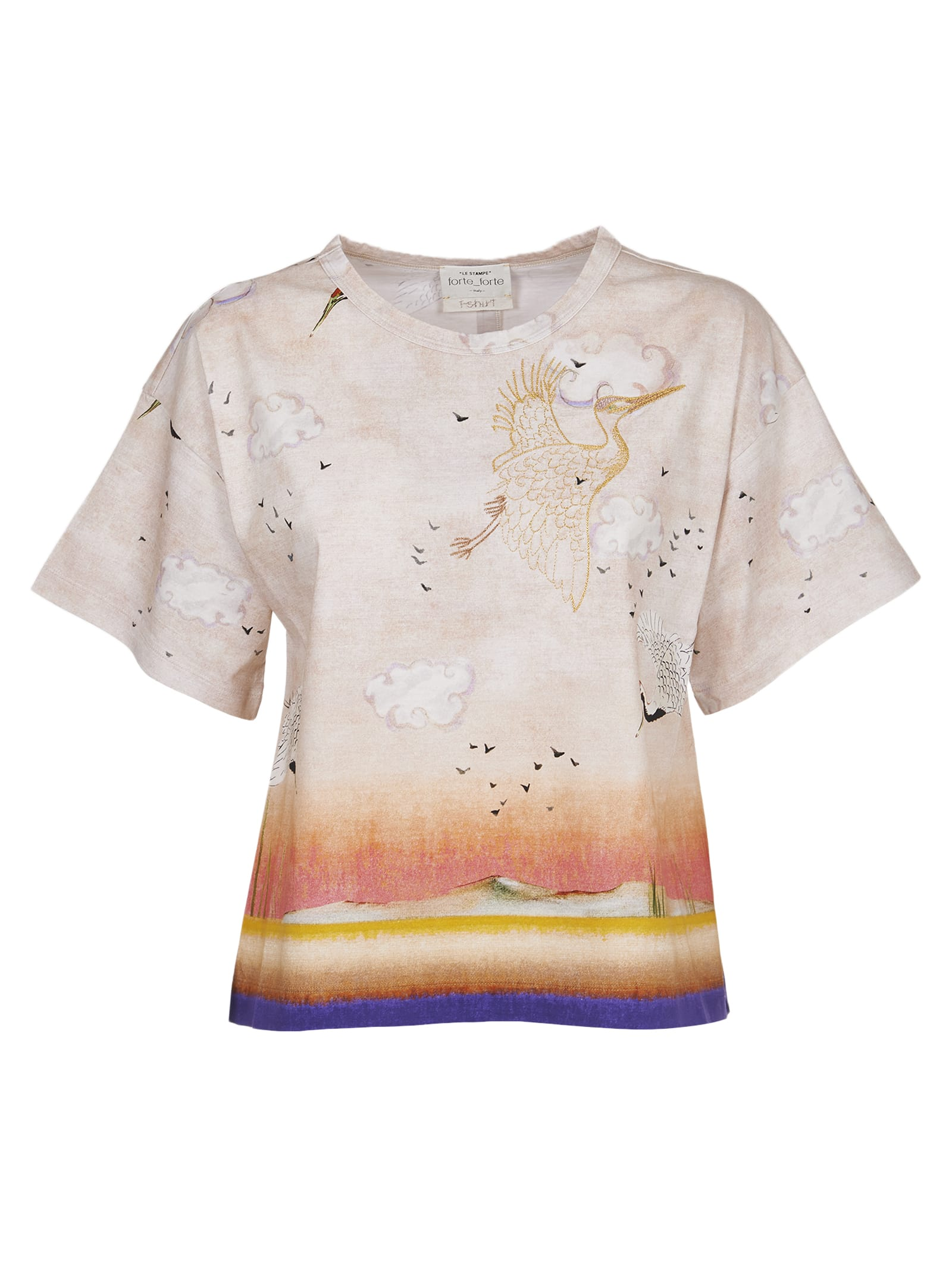 Forte Forte a Kiss At Sunset Pattern T-shirt