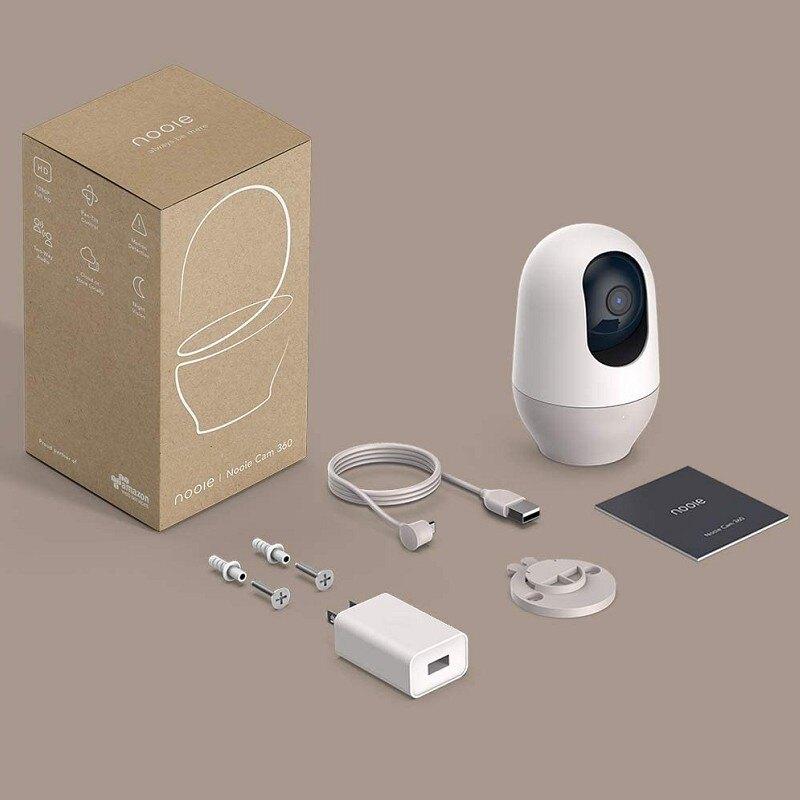 [2美國直購] Nooie 360度攝影機 IPC100-1080p 雙向通話 運動跟蹤 紅外夜視 兼容Alexa