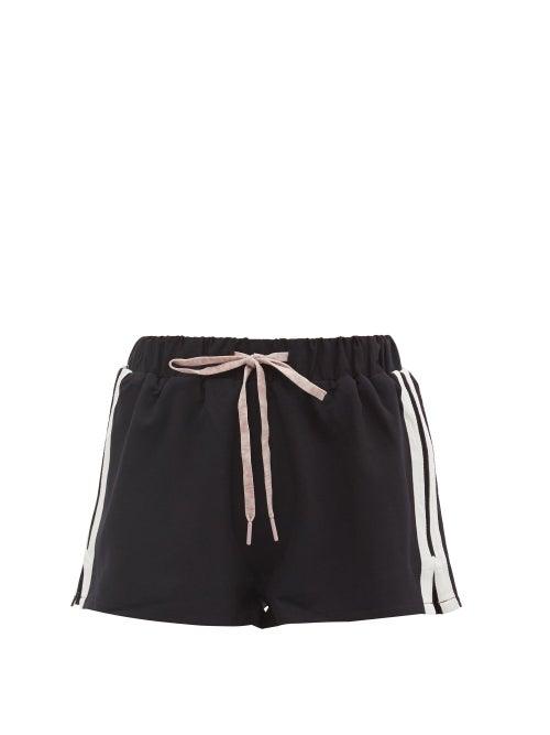 The Upside - Efrem Striped Shorts - Womens - Navy White