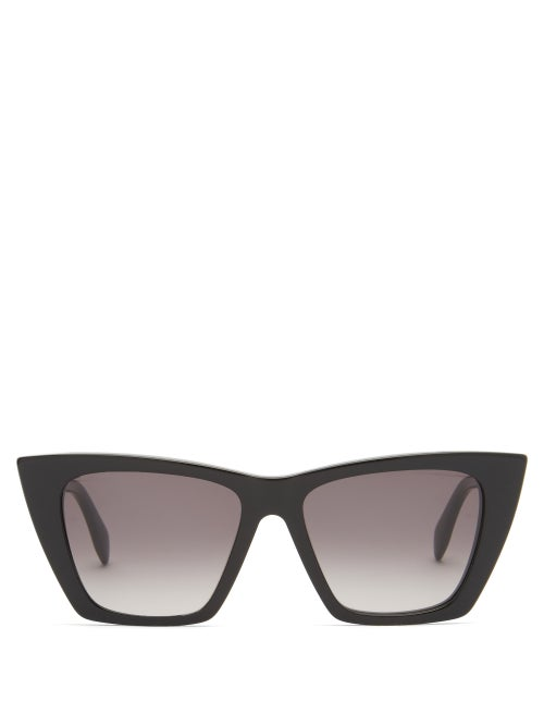 Alexander Mcqueen - Cat-eye Acetate Sunglasses - Mens - Black
