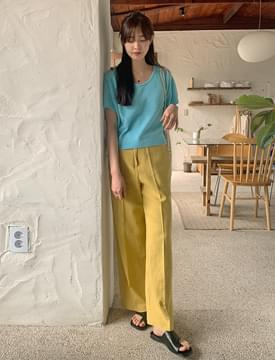 韓國空運 - French button linen slacks 長褲