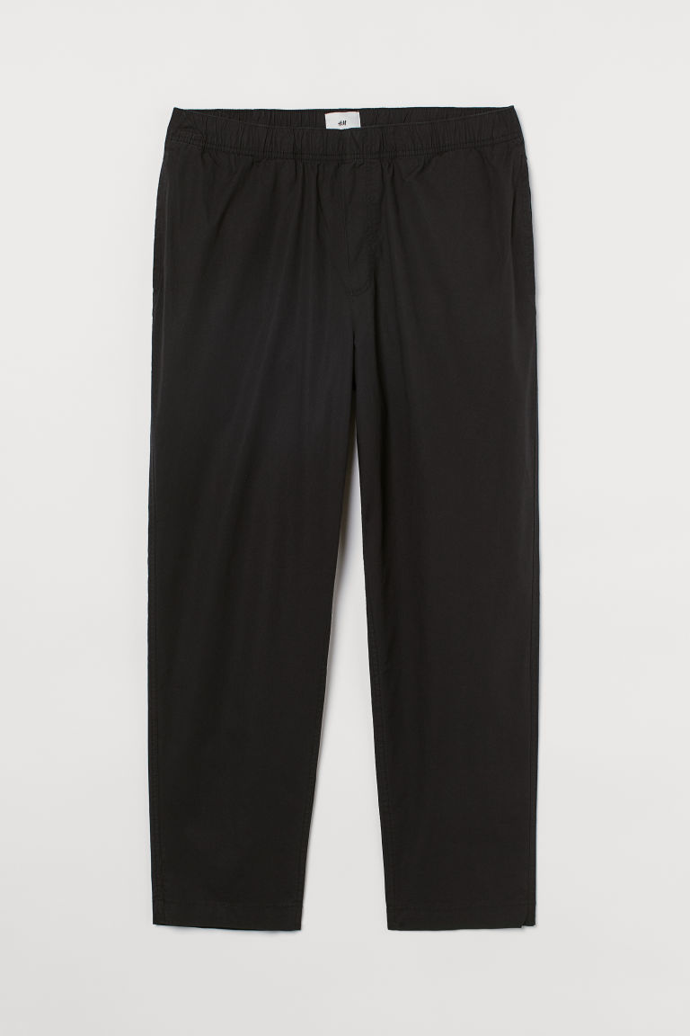 H & M - Relaxed Fit Cotton trousers - 黑色