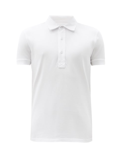 Orlebar Brown - Sebastian Cotton-piqué Polo Shirt - Mens - White