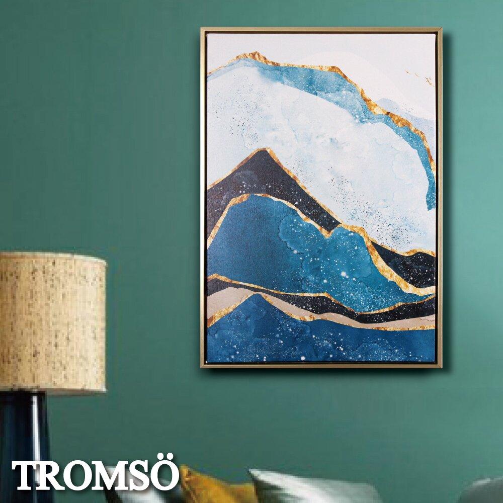 TROMSO北歐時代風尚有框畫-湛藍金山WA162