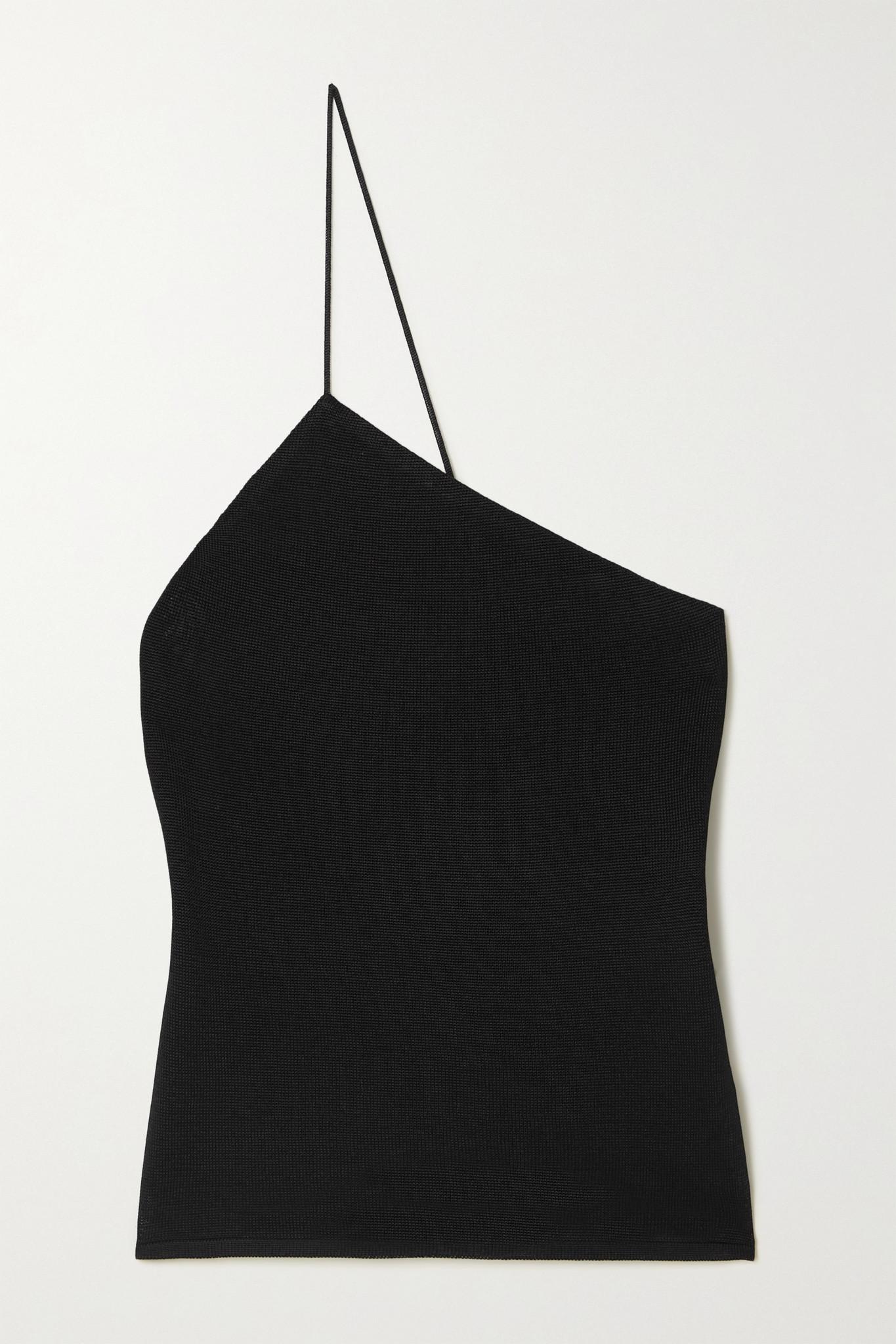 GAUGE81 - Beja One-shoulder Knitted Top - Black - medium