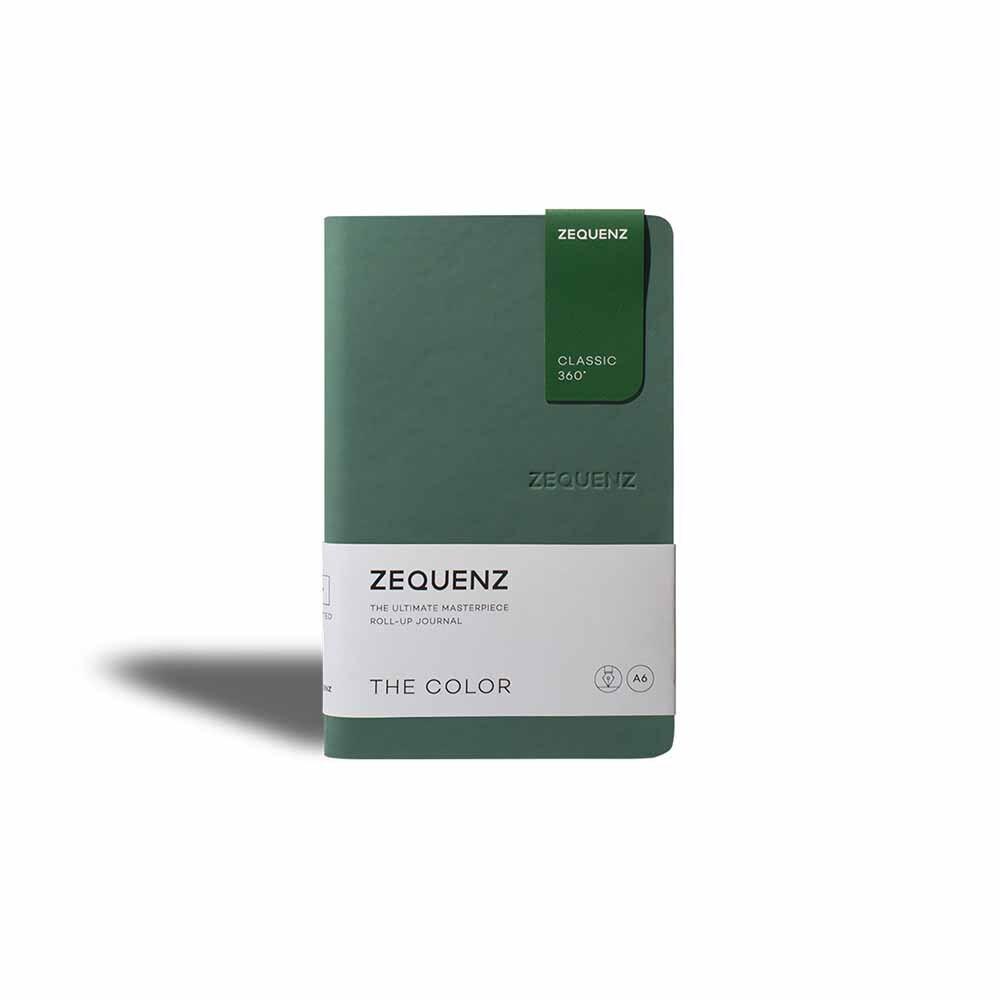 ZEQUENZ 360  可摺疊方格筆記本-繽紛系列(B6)(翠綠)