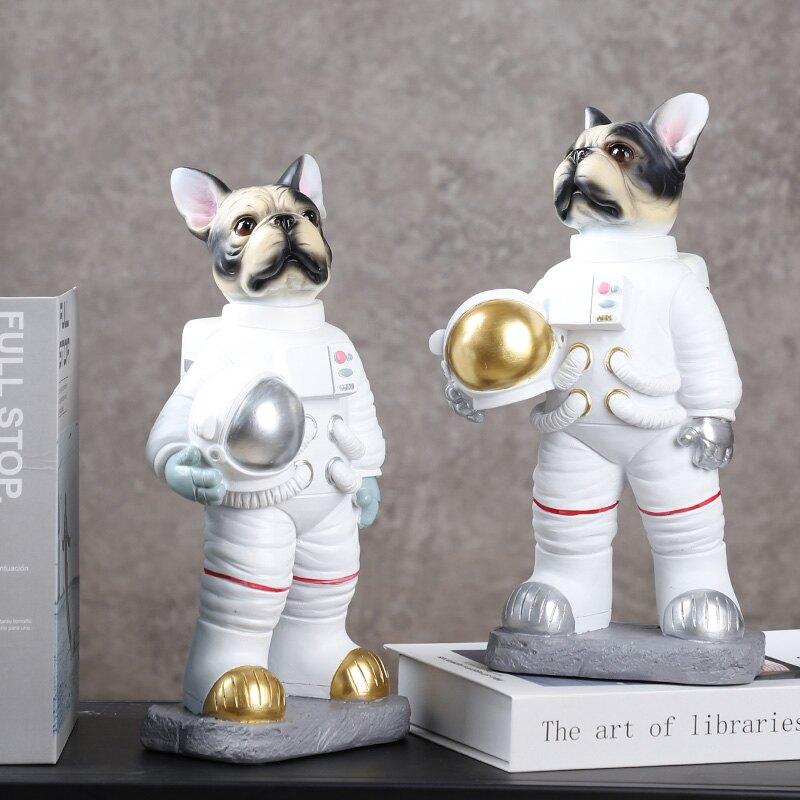 現代創意卡通太空狗裝飾家居擺設客廳玄關電視櫃書房兒童房擺件SCF3 愛尚優品