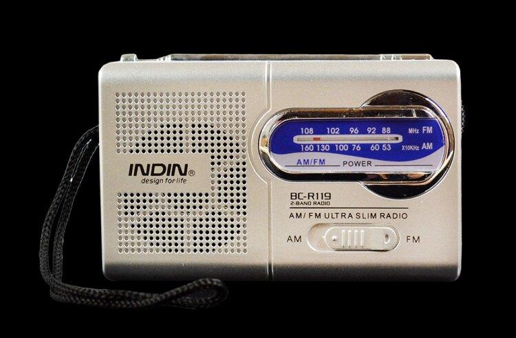樂天精品 82折下殺 收音機 英的INDIN收音機R119小音箱老人便攜AMFM調頻收音機播放器隨身聽