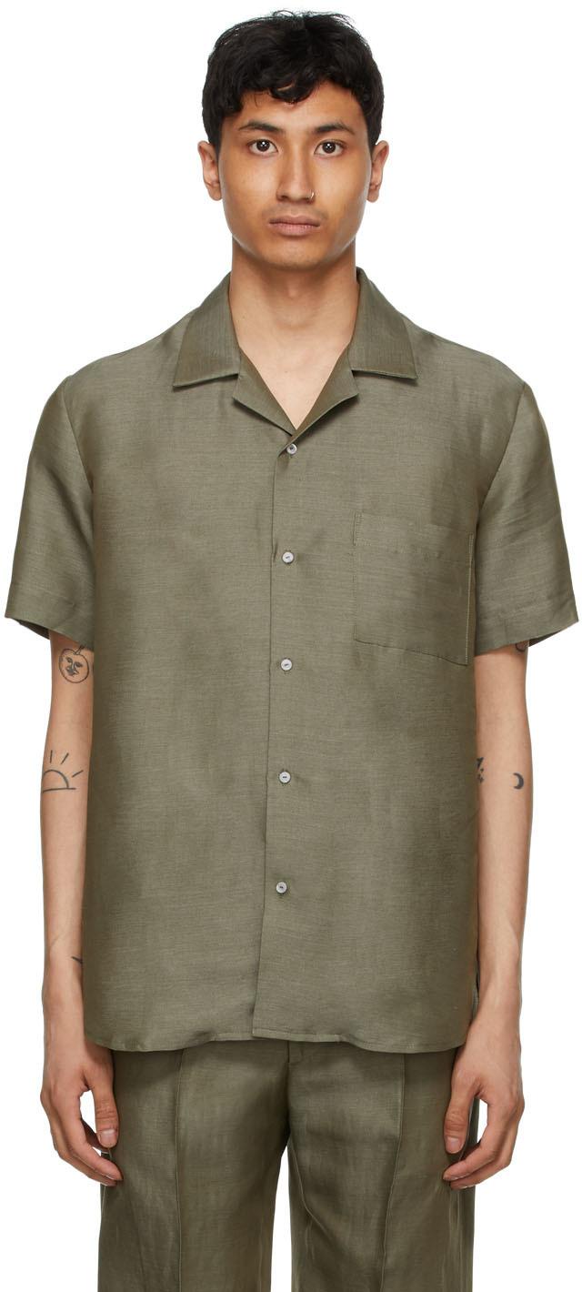 Carlota Barrera 军绿色 Resort 短袖衬衫
