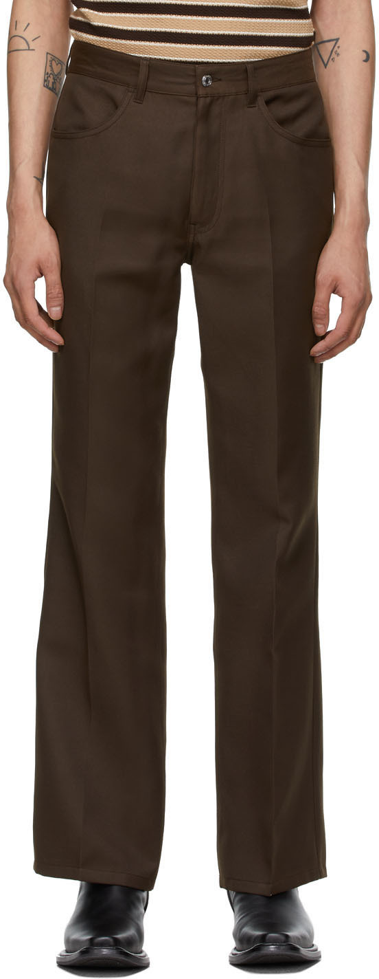Second/Layer 棕色 Valluco 喇叭裤