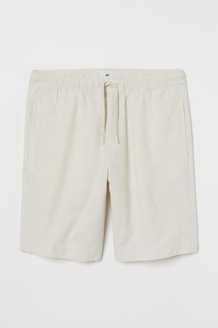 H & M - 棉質短褲 - 白色