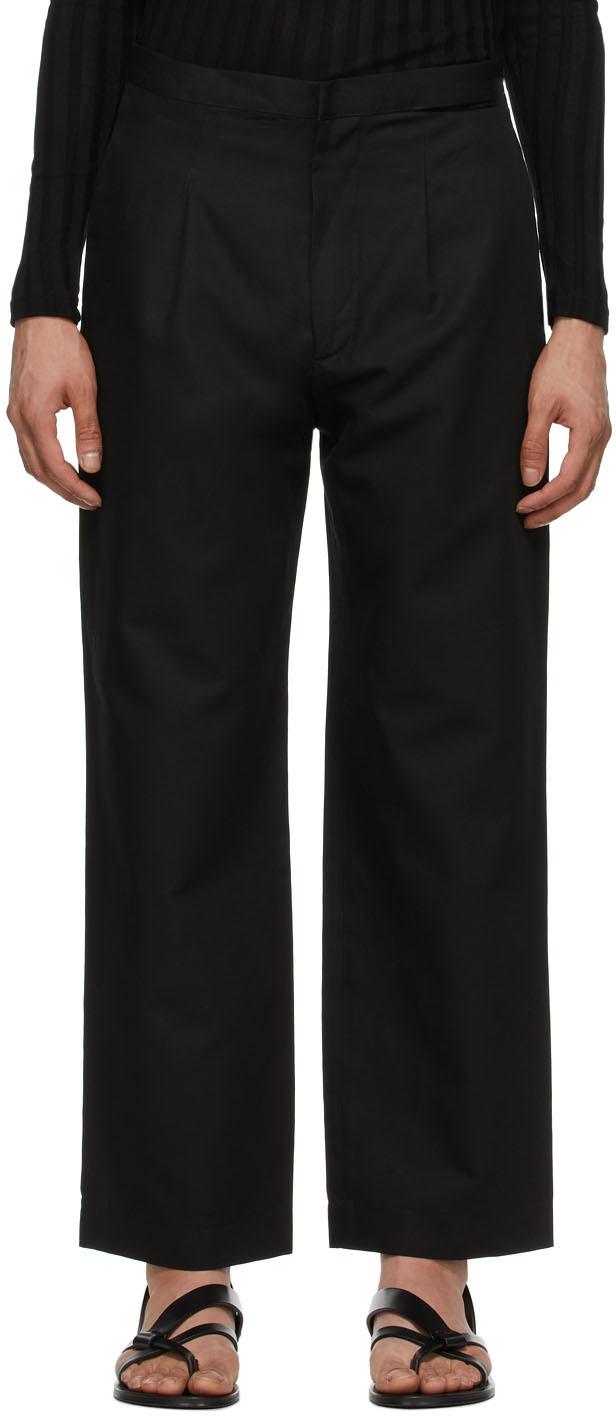 Carlota Barrera 黑色 Waistband Slit 长裤