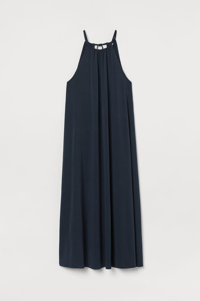 H & M - 平紋長洋裝 - 藍色