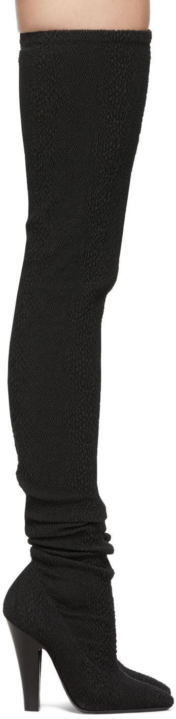 Saint Laurent 黑色 68 弹性高筒靴