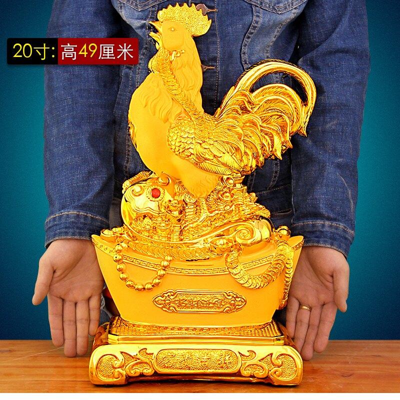 公雞擺件招財風水 沙金生肖雞存錢罐實用 家居裝飾創意品LYJ3 艾琴海小屋
