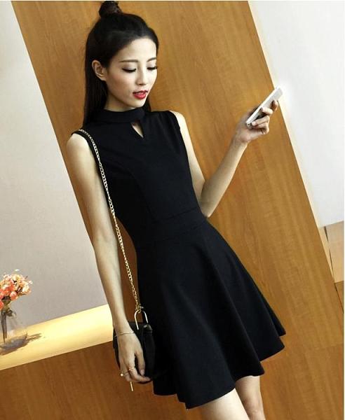 無袖洋裝 黑色無袖背心裙2021新款夏吊帶連身裙中長款打底韓版收腰顯瘦裙子寶貝計畫 上新