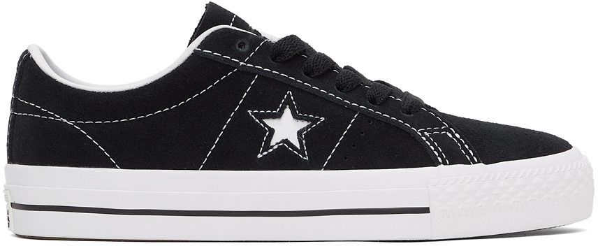 Converse 黑色 CONS One Star Pro 绒面革运动鞋