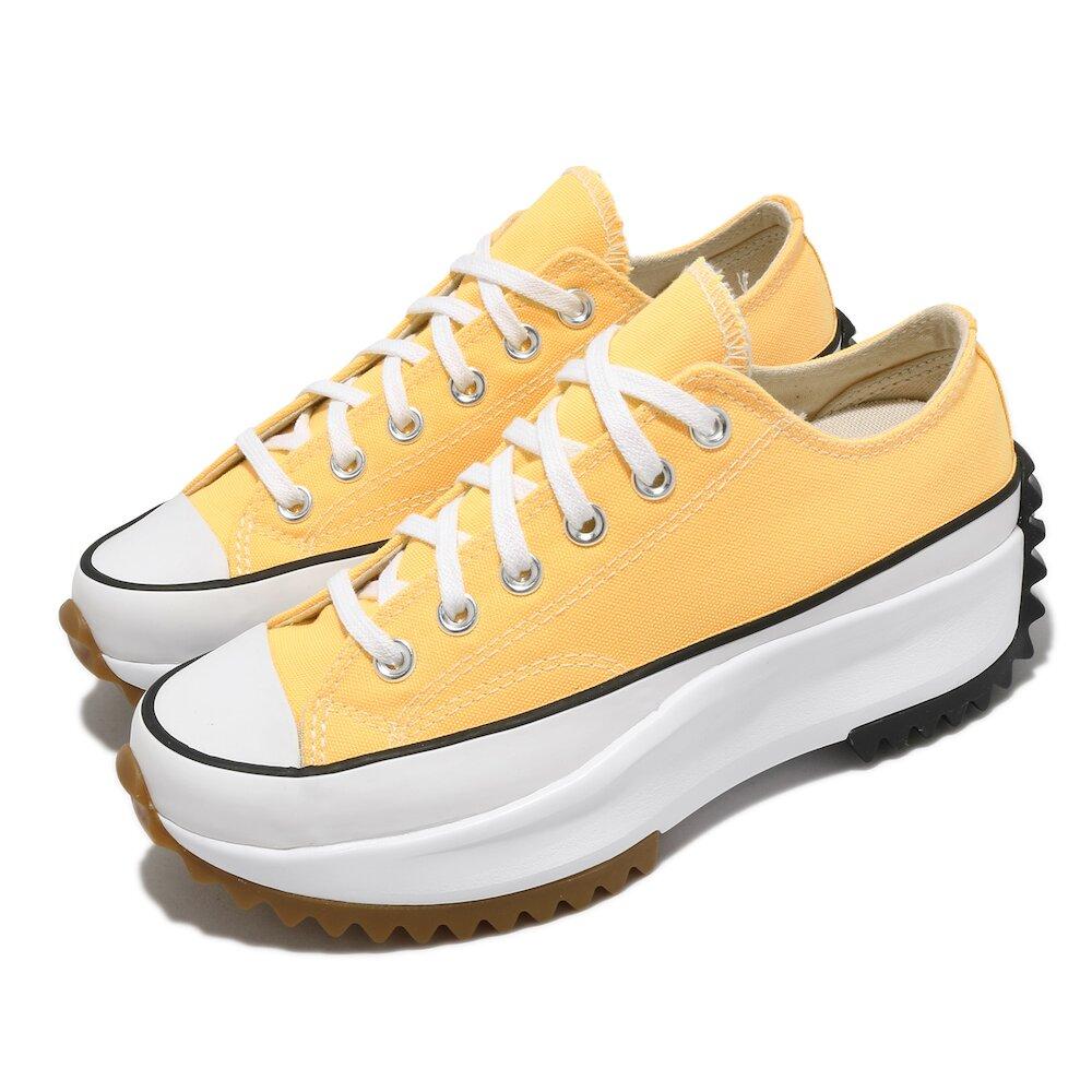 CONVERSE 休閒鞋 Run Star Hike 穿搭 女鞋 厚底 增高 舒適 帆布 球鞋 簡約 黃 白 [170778C]