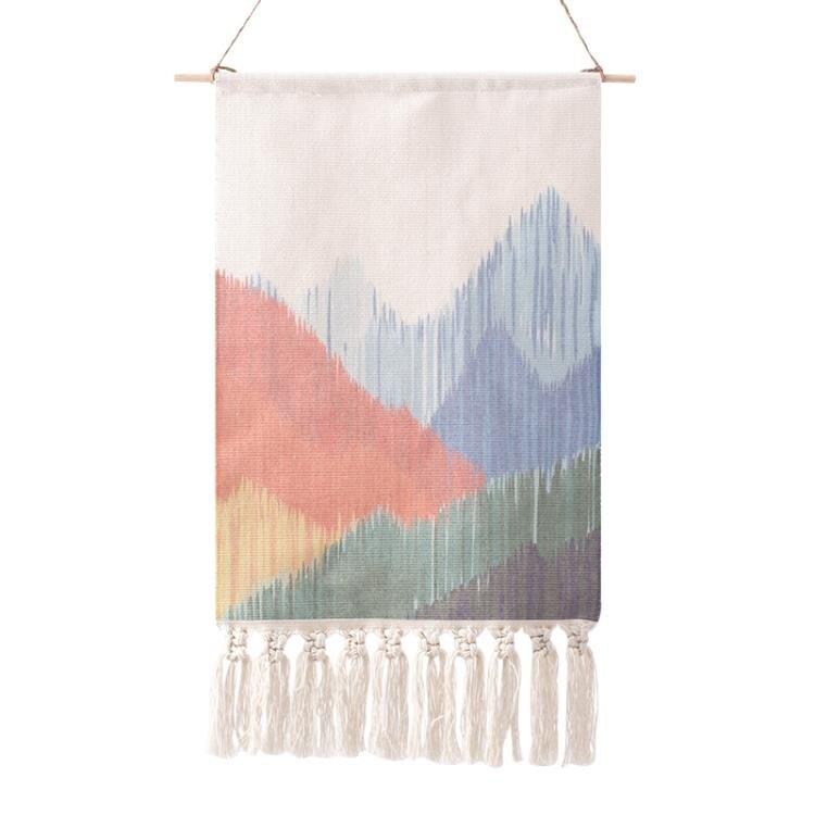 臥室掛毯壁毯壁掛床頭民宿裝飾畫背景布ins掛布墻布網紅北歐編織 摩可美家