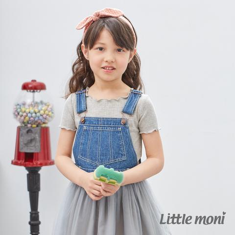 Little moni 荷葉邊袖上衣(麻花灰)