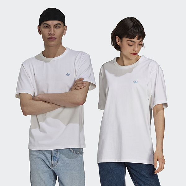 Adidas Originals Shmoofoil 男裝 女裝 短袖 T恤 情侶 小精靈 幽靈 素面 白【運動世界】GL9939