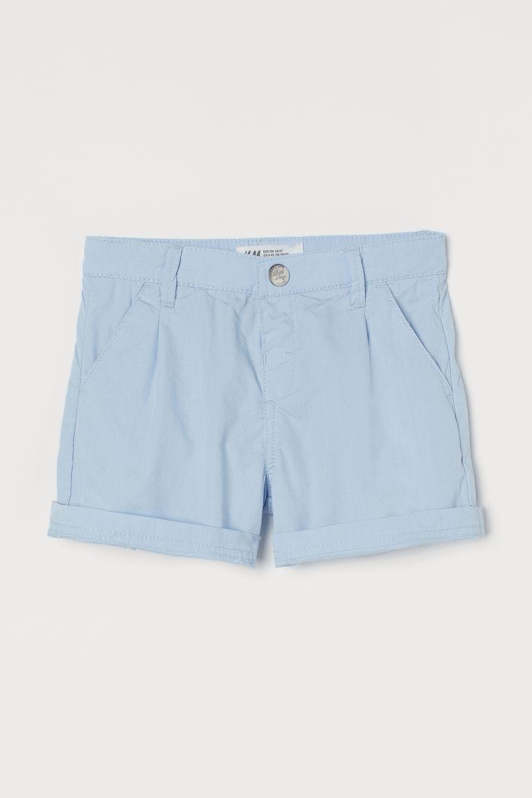 H & M - 棉質短褲 - 藍色