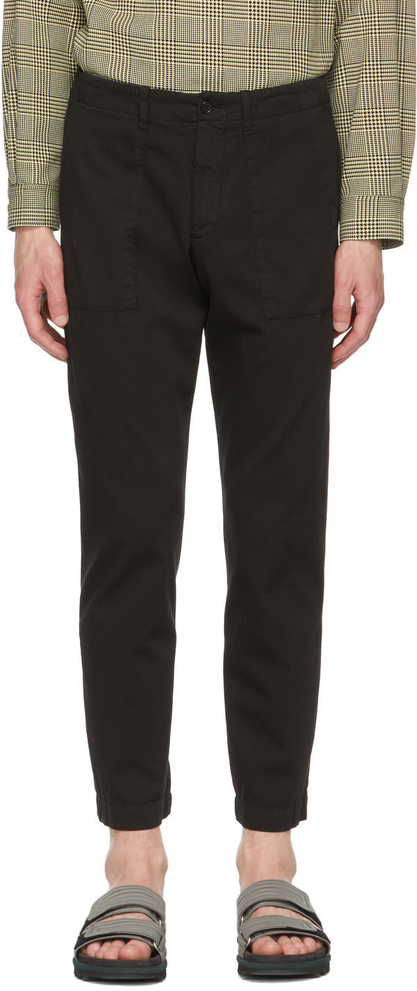 Dries Van Noten 黑色修身长裤