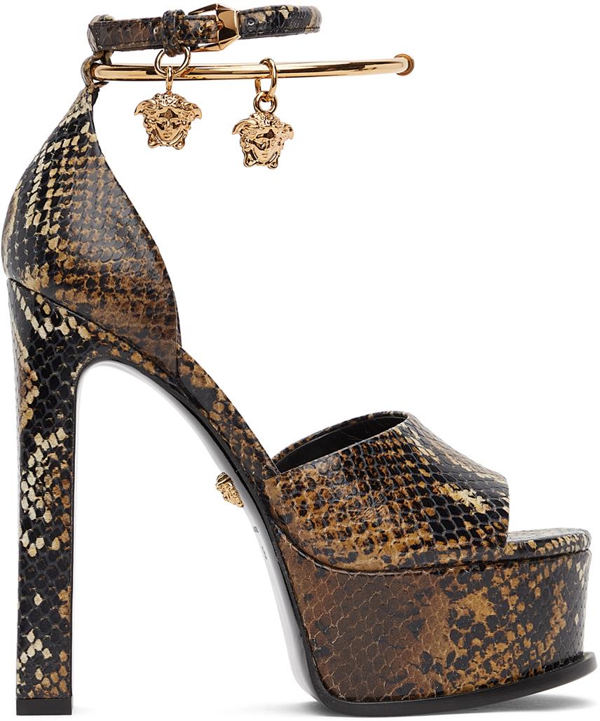 Versace 棕色 Medusa 凉鞋