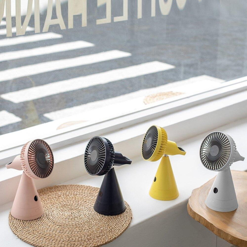 創意磁吸化妝鏡風扇帶屏顯摩天輪搖頭風扇桌面臥室桌面大電量台扇 摩可美家