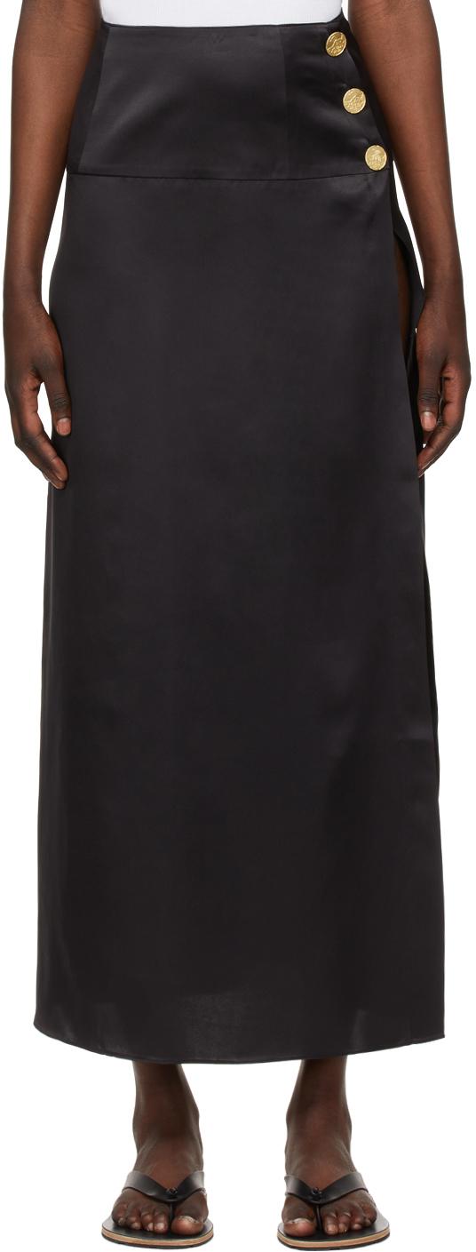 Le Kasha 黑色 Tacheng 真丝半身裙