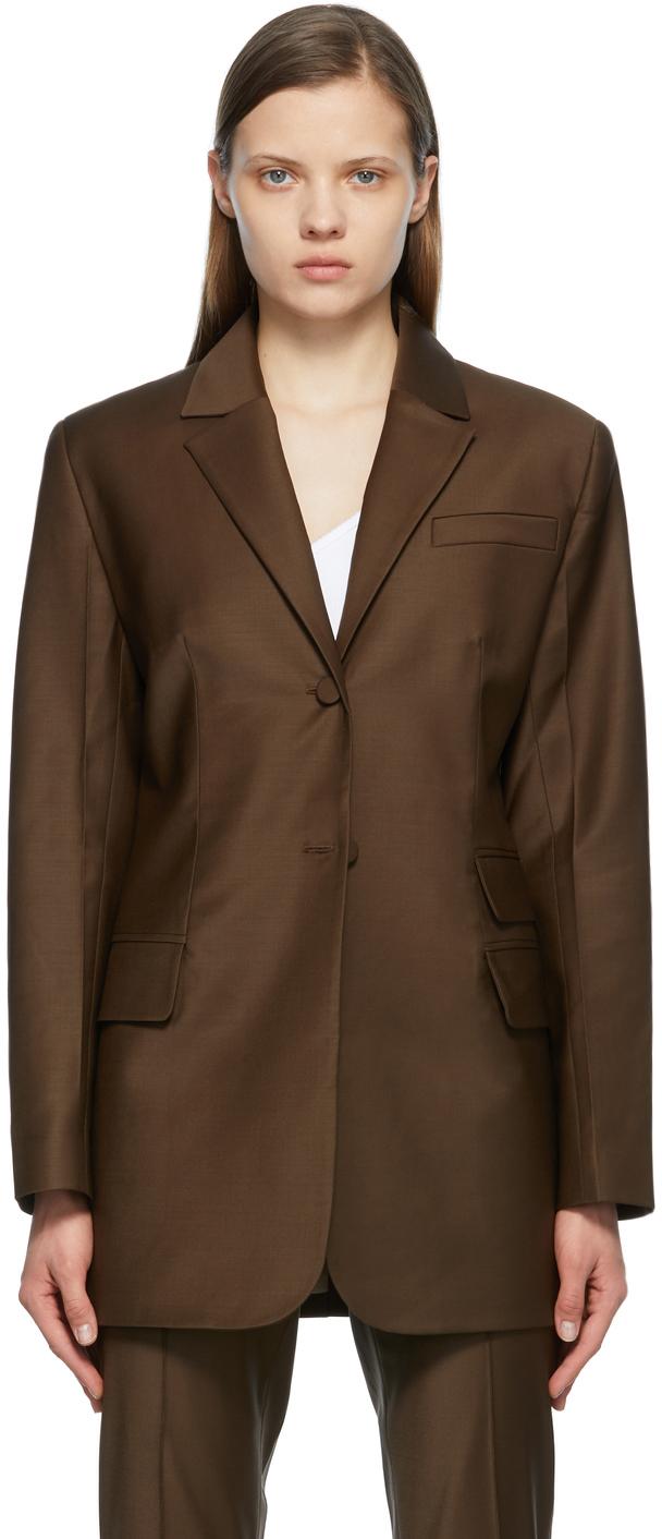 Matériel Tbilisi 棕色 Menswear 羊毛凡立丁西装外套
