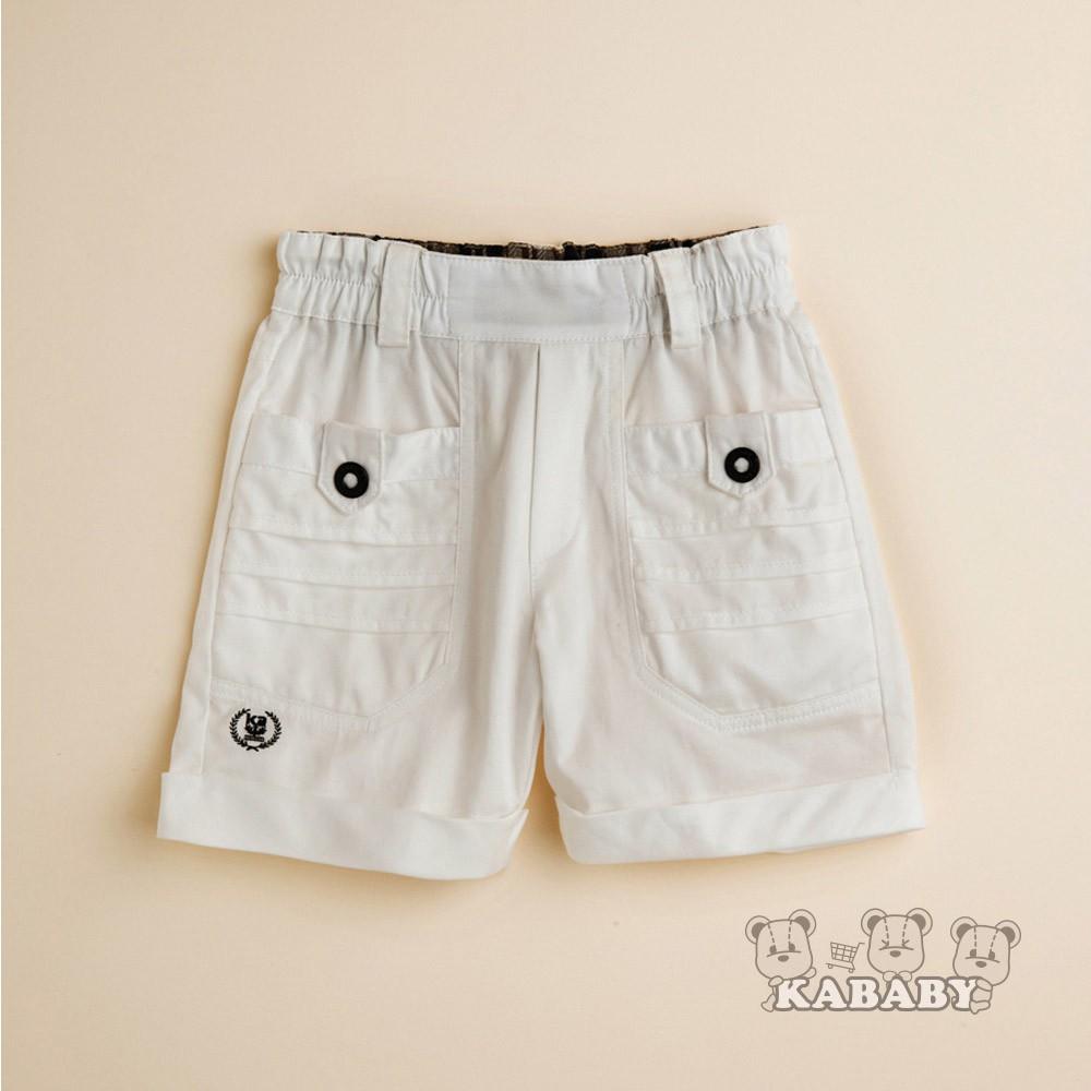 【金安德森】KA60支秀士男童短褲(白色)