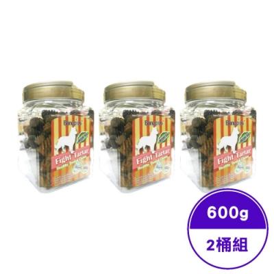 Bone Plus起司動能雙頭潔牙骨小桶裝 600g±5g(贈單支隨機潔牙骨) (2桶入)