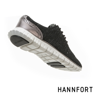 HANNFORT ZERO GRAVITY編織牛津氣墊鞋 女 銀河黑