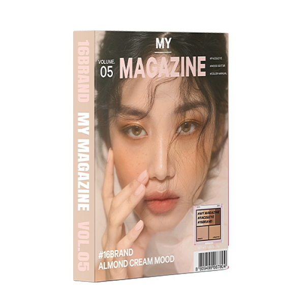 16 BRAND迷你雜誌彩妝盤-05奶油杏仁【寶雅】