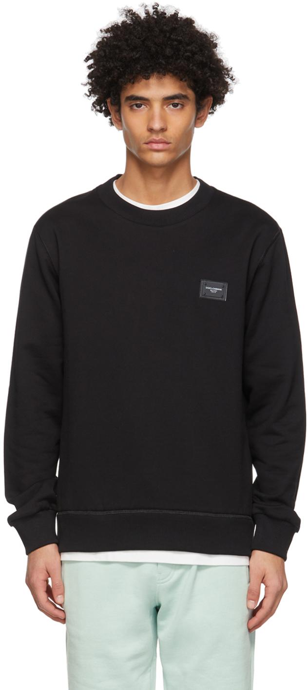 Dolce & Gabbana 黑色 Brand Plate 套头衫
