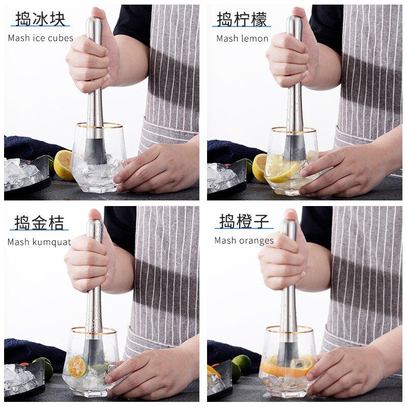 碎冰錘 搗汁棍 按壓錘 檸檬錘不鏽鋼搗碎棒水果搗汁棒檸檬擠壓棒巧敲肉錘碎冰棒碎冰錘『cyd1034』