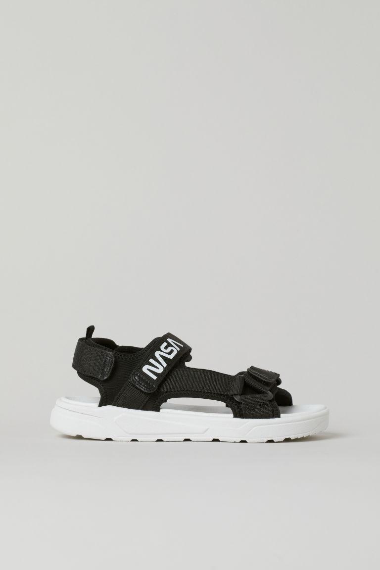 H & M - 網布涼鞋 - 黑色