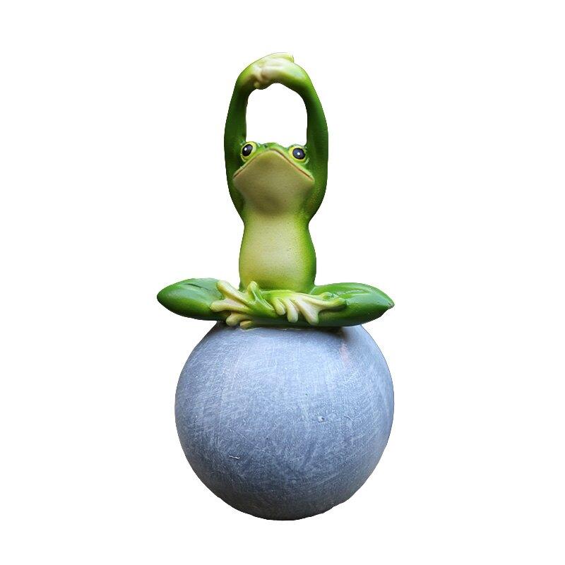 創意青蛙擺件 園藝雜貨裝飾品 花園小擺件 庭院裝飾 卡通動物擺件