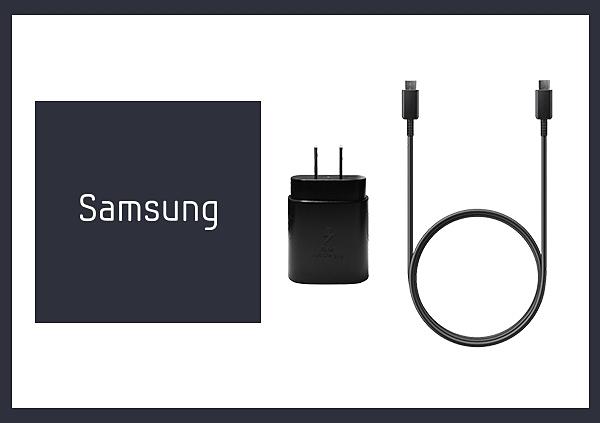 SAMSUNG GALAXY S21/ S20適用 25W Type C原廠快充組-黑色 (閃充EP-TA800+雙Type C線)