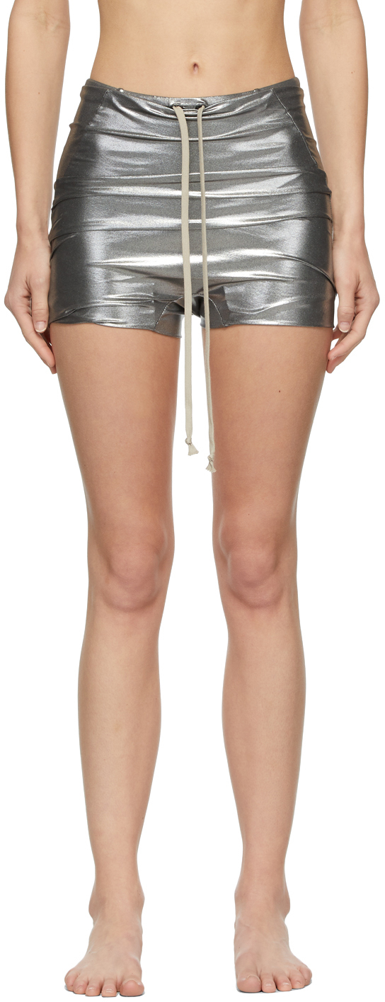 Rick Owens 银色金属感泳裤