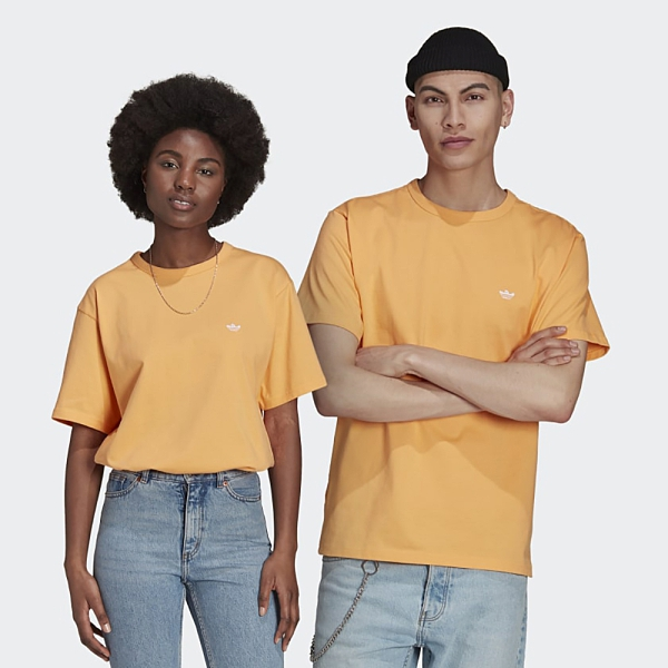 Adidas Originals Shmoofoil 男裝 女裝 短袖 T恤 情侶 小精靈 幽靈 素面 橘【運動世界】GL9938