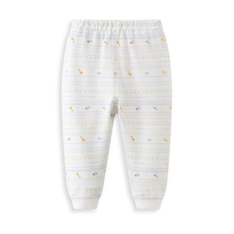 【網路獨家款】les enphants  匹馬棉兩件組長褲-白色
