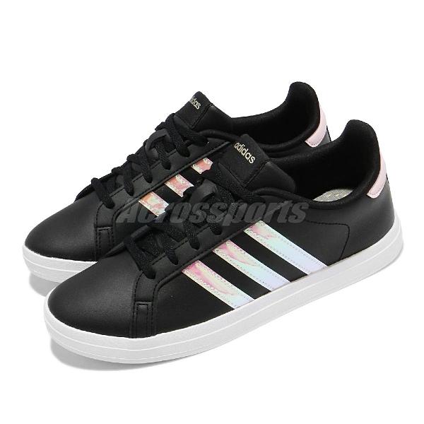 adidas 休閒鞋 Courtpoint 黑 白 銀 愛迪達 女鞋 基本款【ACS】 FY8405