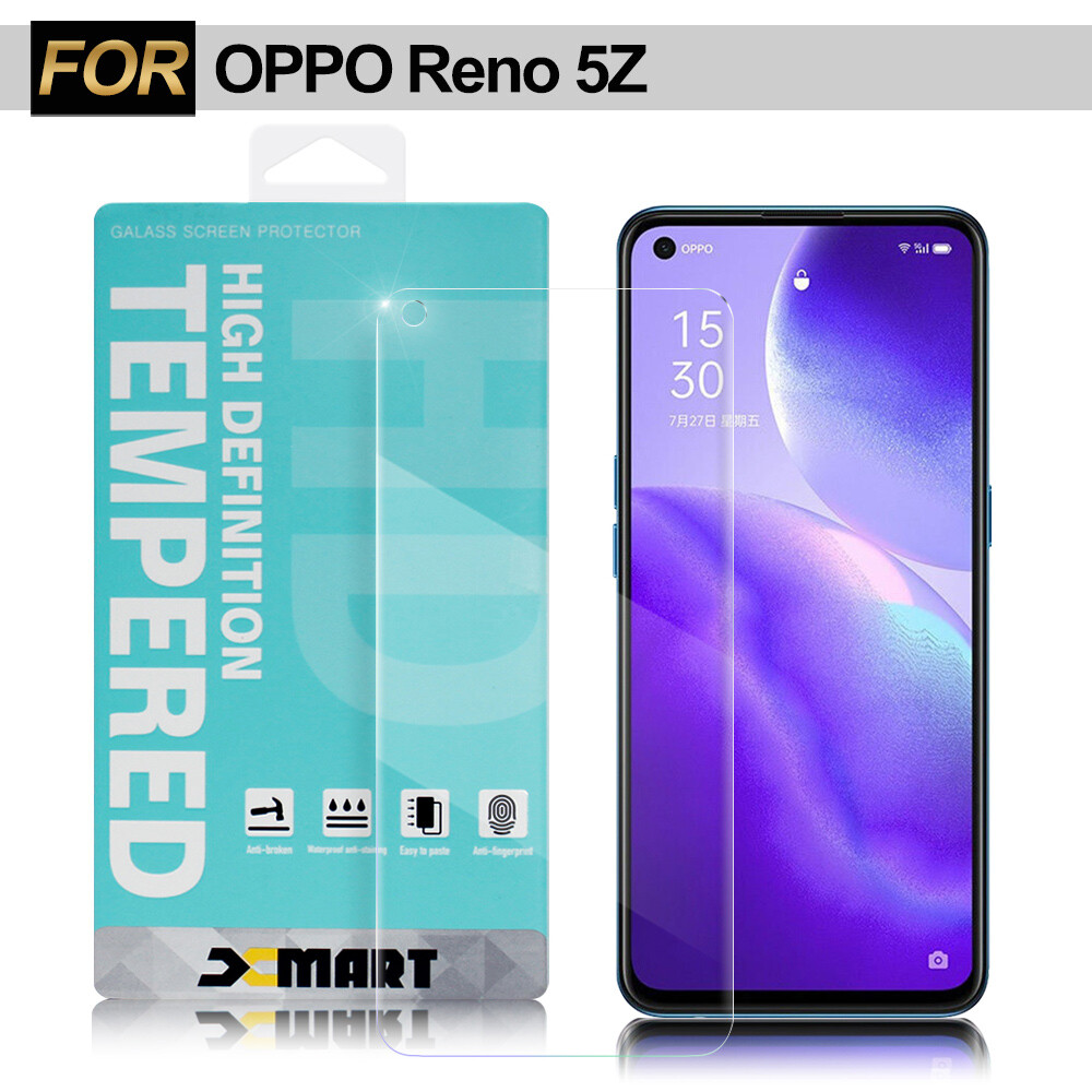 xmart for oppo reno 5z 薄型9h玻璃保護貼-非滿版