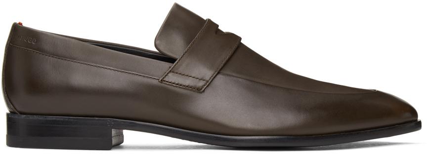 HUGO 棕色 Penny 乐福鞋