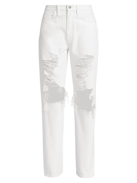 Le Hollywood High-Rise Distressed Jeans