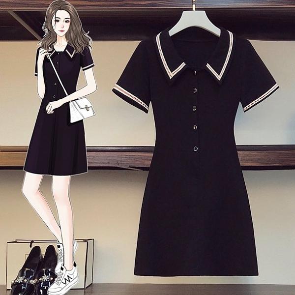 裙子長版衣連身裙L-4XL中大尺碼洋氣減齡甜美連身裙子R04.4612胖丫